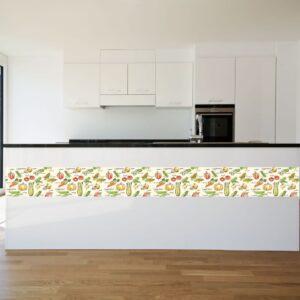 """Αυτοκόλλητο τοίχου Κουζίνας """"Μπορντούρα λαχανικά"""""""