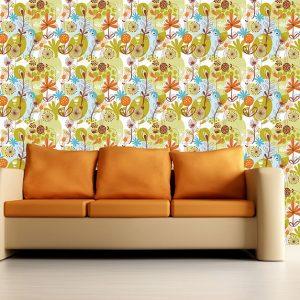 """Ταπετσαρία τοίχου """"Λουλούδια και χρώματα"""""""