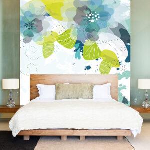 """Ταπετσαρία τοίχου """"Μεγάλα λουλούδια"""""""