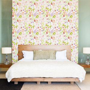 """Ταπετσαρία τοίχου """"Λουλούδια"""""""
