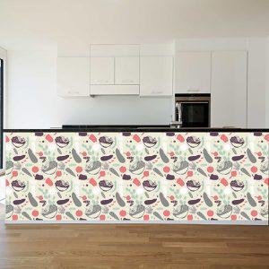 """Ταπετσαρία τοίχου """"Με λαχανικά για την κουζίνα σας"""""""