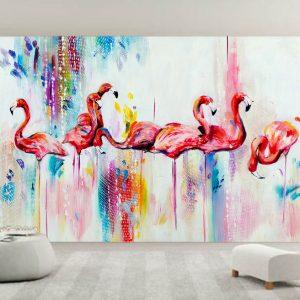 """Ταπετσαρία τοίχου Φωτοταπετσαρία """"Flamingo"""""""