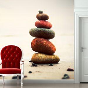 """Ταπετσαρία τοίχου Φωτοταπετσαρία """"Χρωματιστές πέτρες"""""""